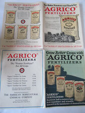 Two 1920's Agrico Fertilizer Advertising Poster, News Print. Excellent Condition