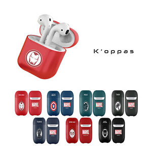 Official Disney Marvel Symbol Solid AirPod Earphone Case Cover 100% Authentic