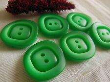 Lot 6 grande Bottoni vintage verde lavorato Diametro: 2,4 cm ref 1399