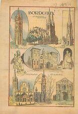 Tour Pey Berland Abbatiale Sainte-Croix Cathédrale Saint-André de Bordeaux 1933