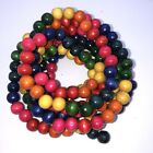 Wooden Garland Beads Multi-Color  9 Foot Christmas Boho Country DIY