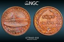NGC MS-65 RB 1863 Capitol Building/Army & Navy Civil War Token, F-233/312a