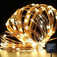 10M/33ft Solar Power String Fairy 100LED Light Lamp Party Xmas Outdoor Garden