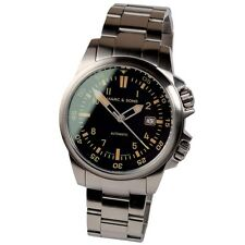 MARC & SONS Automatik Uhr Retro Diver Watch Taucheruhr Herrenuhr Datum MSR-002