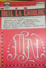 Toute la broderie N° 91 1961 Couture Motif chiffres alphabet nappe autel  DIY