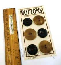 "6 Early Plastic ?Bakelite? Buttons Mix 3/4-1"" * VINTAGE *  *   *   *  OLD STOCK"