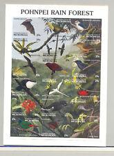 Micronesia #149 Bats, Birds 1v M/S of 18 Imperf Proof in Folder