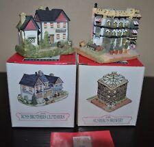 Liberty Falls Village Collection Set/2 1994 Ah80 1993 Ah81 Vtg