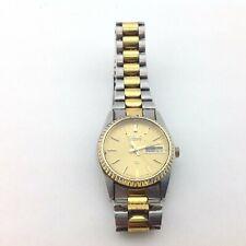 Seiko Gold Tone Round Face Wrist Watch 2 inch Diameter