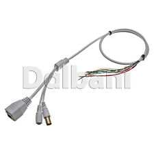 BNC Video DC Power RJ45 Ethernet Cable for Security Camera 2ft White