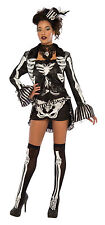 Womens Elegant Skeleton Costume Day of the Dead Gothic Adult Size Medium