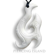 TRIBAL amuleto rimorchi con nastro Bone pendant ossa Maori design pb109