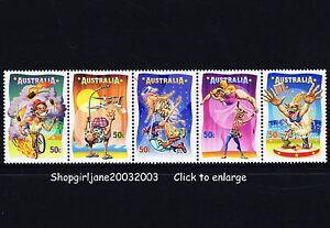 2007 - Australia - Circus Under the Big Top set - se-tennant strip of 5 - MNH