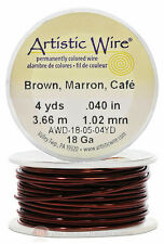 Brown Artistic Craft Wire 12 Feet 3.65 Meters Jewelry Beading Crafts 18 Gauge