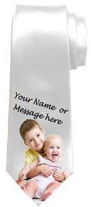 PERSONALISED NECK TIE OWN PICTURE FAMILY PHOTO DAD DADDY GRANDAD UNCLE BROTHER