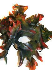 Leafy Green Man Autumn Mask Handmade Leather Venetian Masquerade greenman