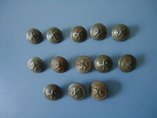 Lot of 13 metal military buttons