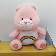 "Cheer Bear Care Plush Pink Rainbow 7"" Nanco 2003"