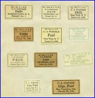 """United States - 1900 -32 Early US Postal Service """"Paid Meter Labels"""" - USED -20"""