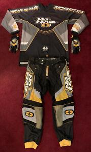 2000 No Fear MX Elektron Pants/Jersey/Gloves Size 32/Large/Medium - Needs Repair