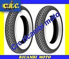 2 PNEUMATICI GOMMA 3.50-10 FASCIA BIANCA RUOTA PIAGGIO VESPA RALLY 125 180