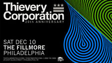 "THIEVERY CORPORATION ""20TH ANNIVERSARY"" 2016 PHILADELPHIA CONCERT TOUR POSTER"