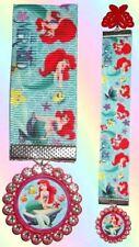 THE LITTLE MERMAID Ribbon Pendant Bookmark Book Mark Disney Princess Ariel Tail