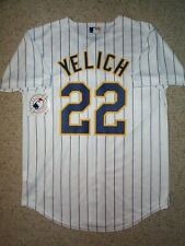 ($65) Milwaukee Brewers CHRISTAIN YELICH mlb Jersey YOUTH KIDS BOYS (m-medium)