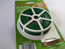 Clip N Twist Plastic Coated Garden Wire with Cutter Tying Ties Greenhouse Plant
