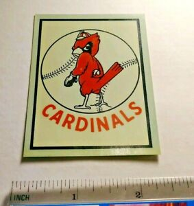 Rare CARDINALS Baseball Vintage LOGO RETIRED Window Travel Decal Sticker ORIG ⚾