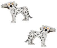 Cheetah Cufflinks with Swarovski Eyes Direct from Cuff-Daddy