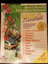 Early Essentials - PC CD ROM video game, Age 3 to 7 - Educational Software