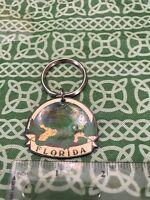 Vintage Snapping Alligator Florida Enamel Keychain FREE SHIPPING