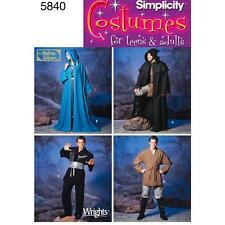 Semplicità per cucire modello unisex con cappuccio per uomo e da UOMO FANTASY Costumi 5840 un