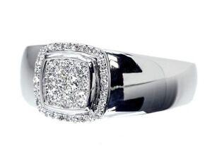14K White Gold Finish 2.00 Ct Diamond Round Cut Men's Vintage Pinky Wedding Ring