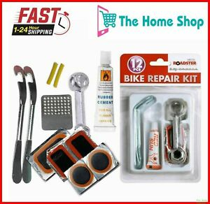 12pc Bike Bicycle Tyre Puncture Repair Kit Tools For All Bikes Universal