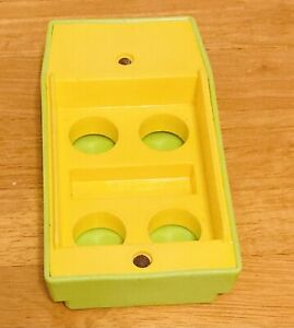 Vintage Fisher Price Little People, #992 Pop-up Camper Yellow-Green Boat