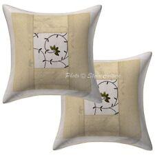 """Home Decor Brocade Elephant Throw Pillows Cover Indian Cotton Cushion Cover 16"""""""