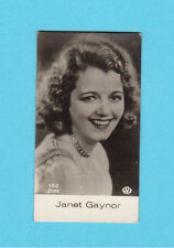 Janet Gaynor Vintage 1930s Movie Film Star Cigarette Card from Germany A