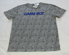Nintendo Mens Game Boy Grey Printed Short Sleeve T Shirt Size M New Genuine