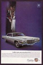 1970 Original Vintage Cadillac Hardtop Sedan Deville Car Photo Print Ad