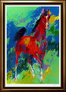 LEROY NEIMAN Large Original Khemosabi Serigraph Arabian Horse Signed Artwork SBO
