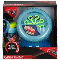 Disney Cars Bubble Blower Machine Bubble Maker Ages 3+ Toy Car Race Play Gift