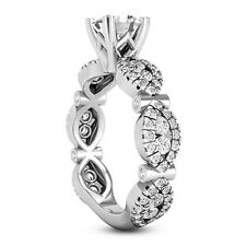 Solitaire Infinity 2.64 Carat SI1/G Round Diamond Engagement Ring White Gold