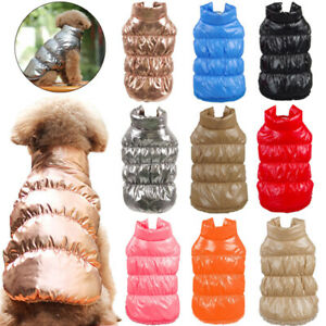 Winter Warm Fleece Pet Dog Jacket Vest Clothes Windproof Puppy Cat Coat Outfits