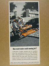 1958 Lawn-Boy LOAFER Ride-on Riding Lawn Mower vintage print Ad