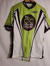 Louis Garneau 3/4 Zip Citrus Park Cyclery Cycling Jersey Men's Size XL Green