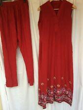 Pakistani Hand Embroidered Long Kameez/Kurta/Tunic with Trousers Sari Saree 12