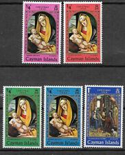 CAYMAN ISLANDS , 1969 , CHRISTMAS , SET OF 5 PERF, MNH ,