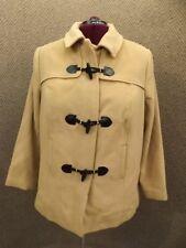 NEW Jessica London Camel Tan Wool Short Tailored Toggle Coat Womens 20 Duffle